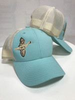 Light blue low profile blue wing teal hat