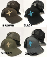 Blue wing teal mens duck hunting hat mesh snapback 36f3ab014d3