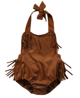 baby fringe indian one piece