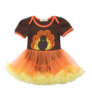 Preorder baby girl Turkey onesie dress