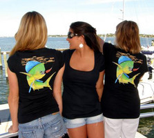 Scoop Neck Dolphin Fishign Apparel