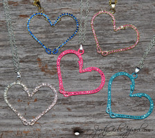 Fishing Heart Hook Pendent-Heart Hook Necklace