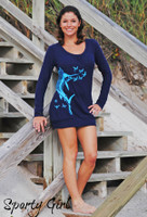 Navy Sailfish Sweater Dress