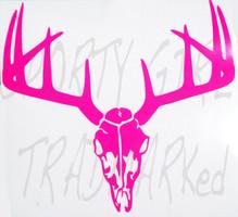Deer Hunting Neon Pink skull Decal
