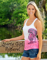 Turkey Hunters Tank top more colors Pink and Black