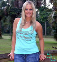 Mint gator tank top