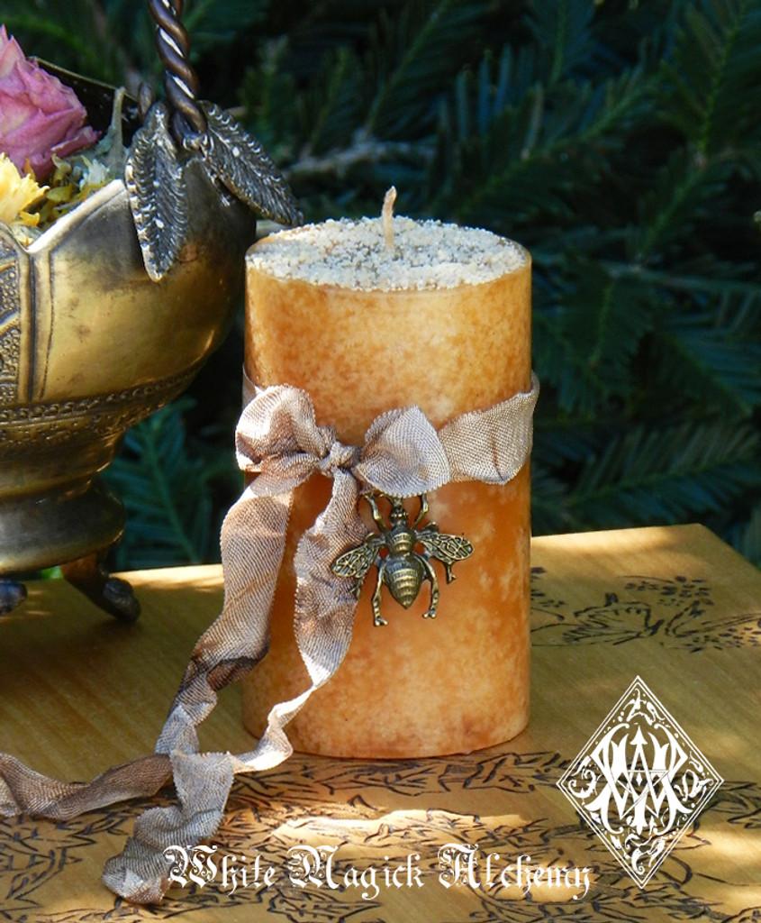Honey Candles Orange Blossom Bees