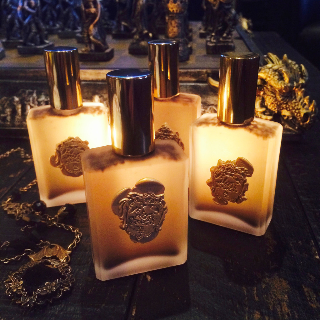 Dark Shadows Alchemy Perfume Potion with Amber, Musk, Vetiver, Vanilla, Sandalwood & More