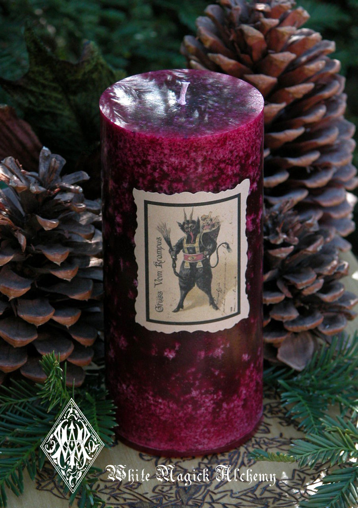 Krampus Holiday Yule Candles . Gruss Vom Krampus . For Naughtly Little People