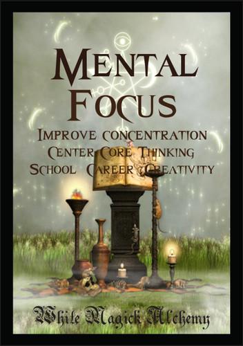 Mental Focus Ritual Spell Jar Vigil Candle . Improve Concentration, Center Core Thinking, School, Career, Creativity