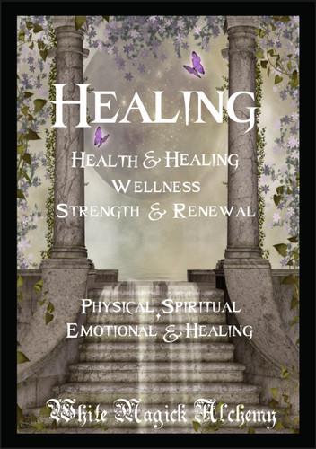 Healing Ritual Spell Jar Vigil Candle . Health, Healing, Wellness, Strength, Courage