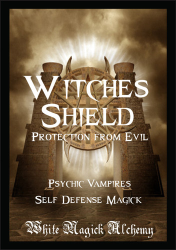 Witches Shield Ritual Spell Jar Vigil Candle . Protection from Evil, Psychic Vampires, Self Defense