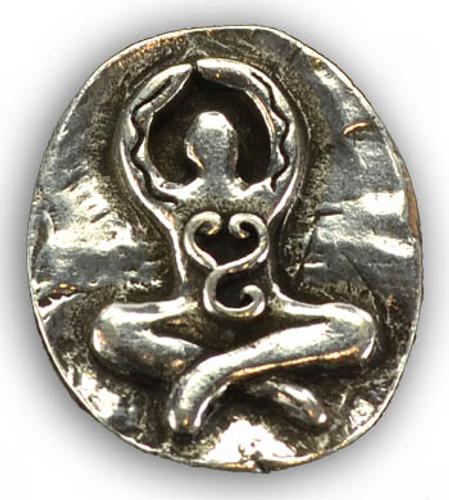 Goddess Stone . Altar or Pocket Stone . Pewter