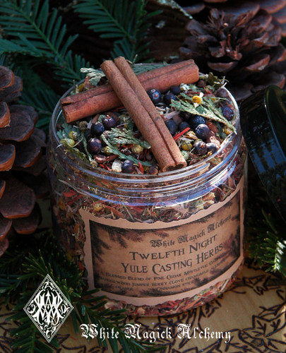 *Yule Twelfth Night Casting Herbs for Yule Bonfires, Winter Solstice . Traditional Woods, Fruits and Berries