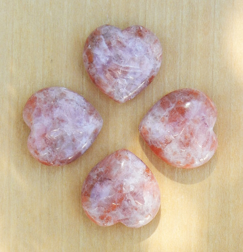 Sunstone Gemstone Heart . Intuition, Self Healing, Courage, Strength, Chakras