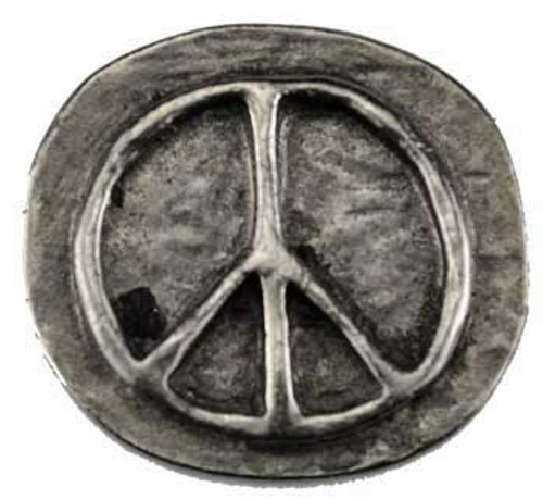 Peace Stone . Altar or Pocket Stone . Pewter