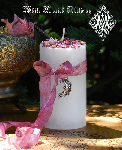 La Luna Alchemy Pillar Candles for Moon Magic