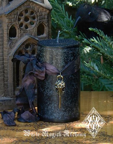 Raven Norse Warrior Pillar Candles