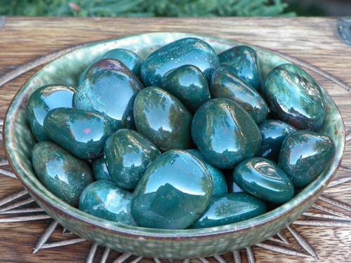 Bloodstone Tumbled Gemstone Healing, Success, Protection, Prosperity, Justice, Creativity, Talent