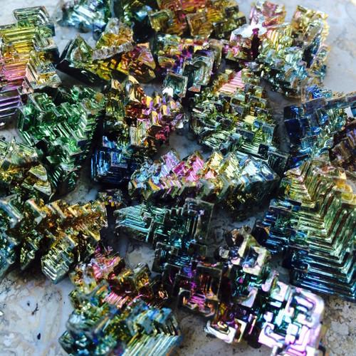 Bismuth Crystals - Spectrum of Color