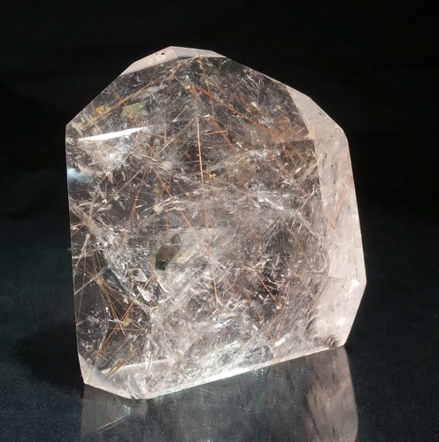 Rutilated Quartz Point Large for Deflecting Negative Energies