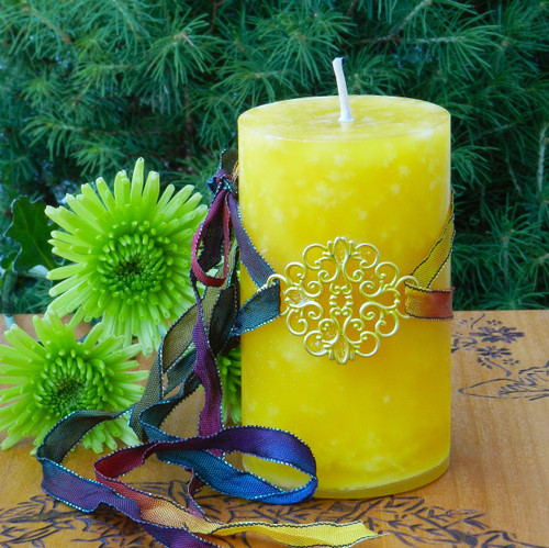 Alchemy Gold Candles for Spiritual Purification & Transformation