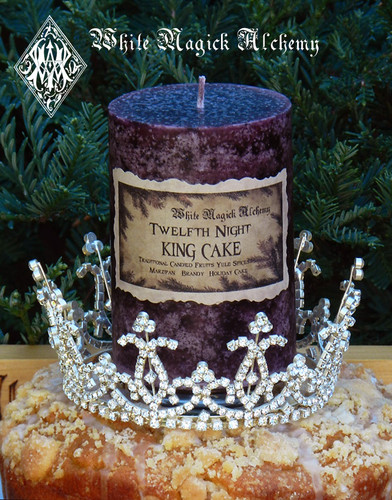 Twelfth Night King Cake Pillar Candles . Traditional Twelfth Cake, Candied Fruits, Brandy, Marzipan, Yule Spices