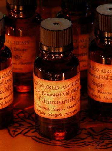 Chamomile Essential Oil . White Magick Alchemy Pure Essential Dilute . Love, Calming, Sleep, Money, Abundance, Purification, Meditation
