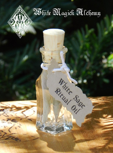"White Sage ""Alchemist Tree"" Ritual Oil . Purification, Healing, Wisdom, Immortality, Cleansing, Clearing, Banishing"