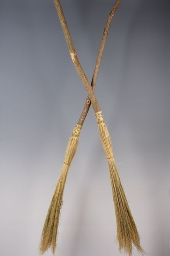 Cobweb Broom ~ Small Ritual Besom ~ Natural