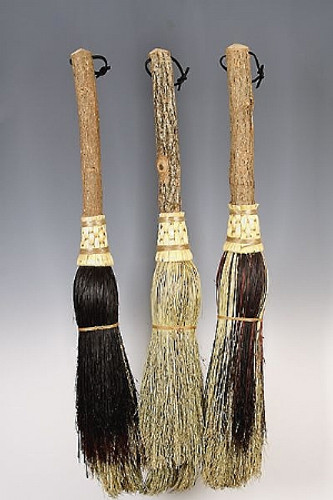 Round Hearth Broom ~ Mini Witches Besom ~ Mixed Colors