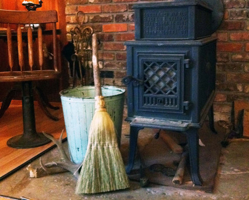 Hearth Broom ~ Natural ~ Old World Style All Organic Broom