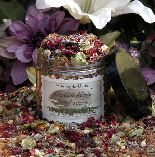 * Ostara Spring Casting Herbs . Spring Equinox . Flowers, Herbs, Gemstones . Fertility, Abundance, New Beginnings