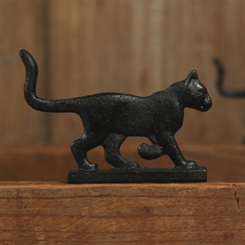 Witches Familiar On Patrol Cast Iron Black Cat . Fekete