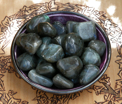 Labradorite Tumbled Gemstone . Large . Intuition, Strength, Anxiety, Depression, Self-Confidence, Healing
