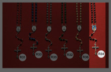 Stone and Wooden Rosaries R34