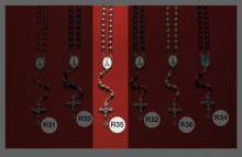Stone and Wooden Rosaries R35