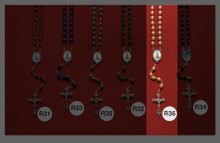 Stone and Wooden Rosaries R36