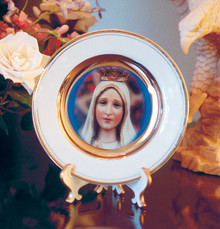 Our Lady of Fatima Porcelain Plate