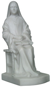 Saint Thérèse - Seated, Marble resin