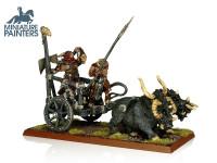 LEAD Beastmen Tuskgor Chariot