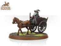 BRONZE Gandalf the Grey & Cart