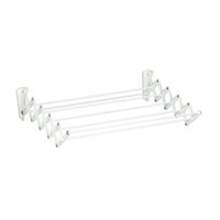 Steel 60 cm Smart Wall Clothes Rack - White - AWR-361-WHITE