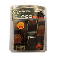 2Pc 6' Camo Locking Tie Downs With S-Hooks - CGL-84042