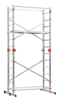Aluminium Multifunction  Scaffold + Ladder Combination - 2x12 Rungs