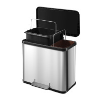 Oko Duo Plus L - 17+9 Litre - Stainless Steel - HLO-0630-200