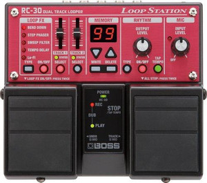 BOSS Loop Station RC-30 can record for 3 hours and has memory for 99 phrases.
