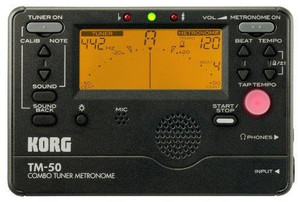 KORG TM-50BK Combo Tuner Metronome Black - Ships from Oregon USA