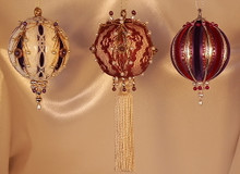 Handmade Ornaments - Special Sets of Three - Save 40%!! – Purple and Burgundy Wine Set