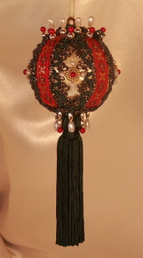"Handmade Christmas Ornaments ""Winter"" with Added Tassel"
